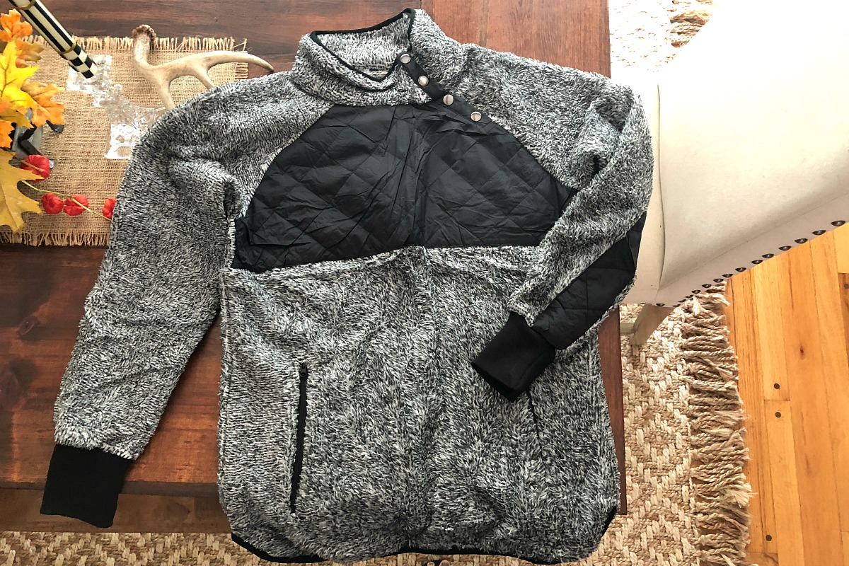 Fave fall jacket pick amazon asymmetrical fleece — jacket unpackaged