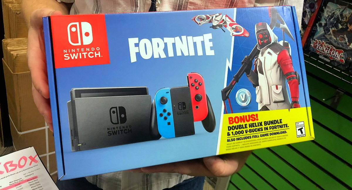 gift guide for teens — fortnite edition of nintendo switch bundle set