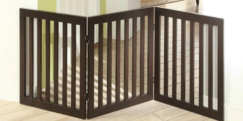 Amazon: Freestanding Dog Gate with Support Feet Only $50.39 Shipped