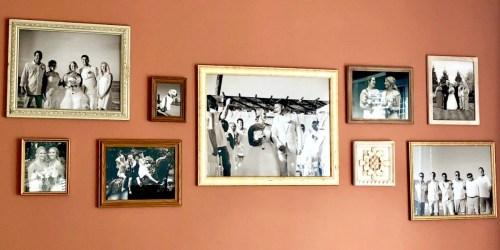 Homemade Gallery Wall w/ Thrift Store Frames