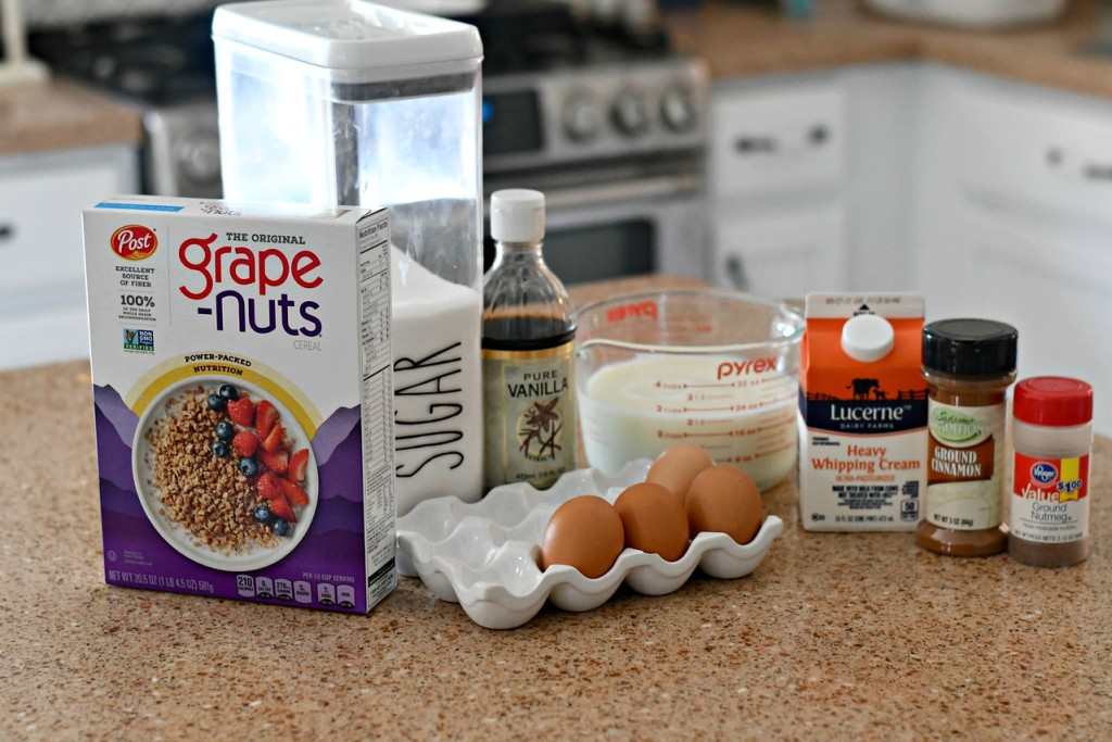Classic Grape-Nuts Pudding Ingredients
