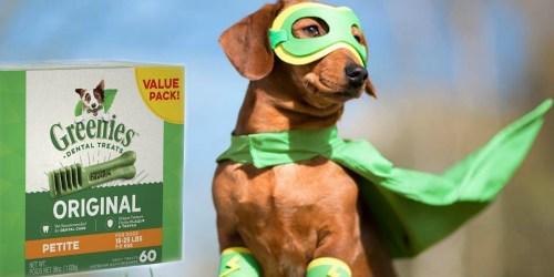 Amazon: Greenies Petite Size Dog Dental Chews Dog Treats 60-Count Only $21 Shipped