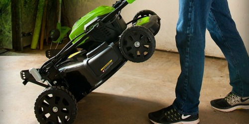 Greenworks Cordless Mower AND Two Batteries Only $199.99 (Regularly $400)