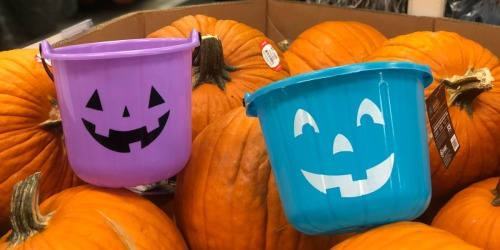 Halloween Candy Buckets from 60¢ at Target | Includes Teal Buckets Too!