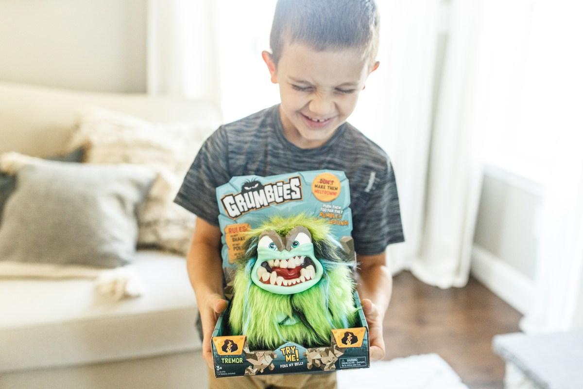 hot 2018 amazon christmas toys – grumblies monster tremor green character
