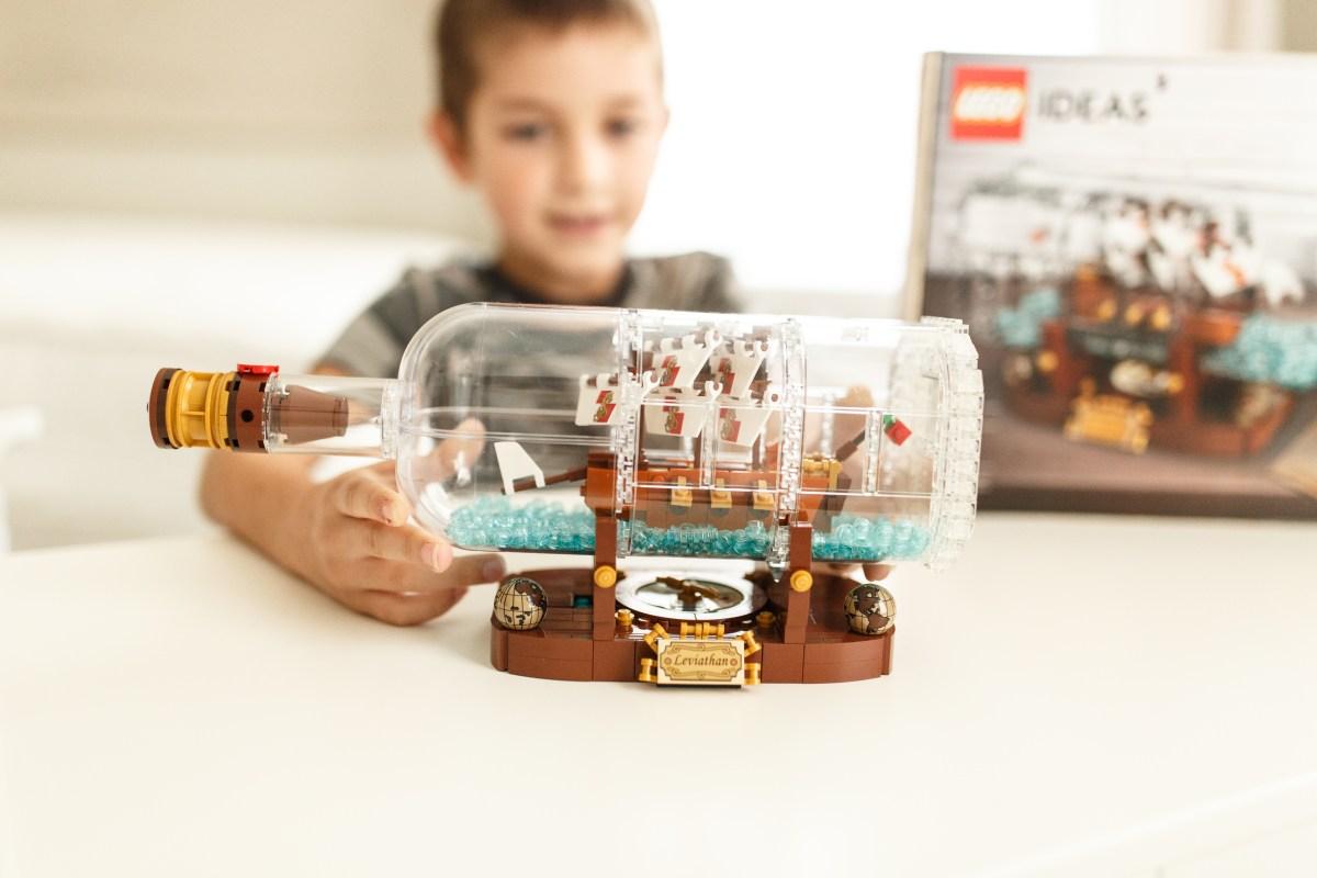 hot 2018 amazon christmas toys – lego ideas ship in a bottle building set