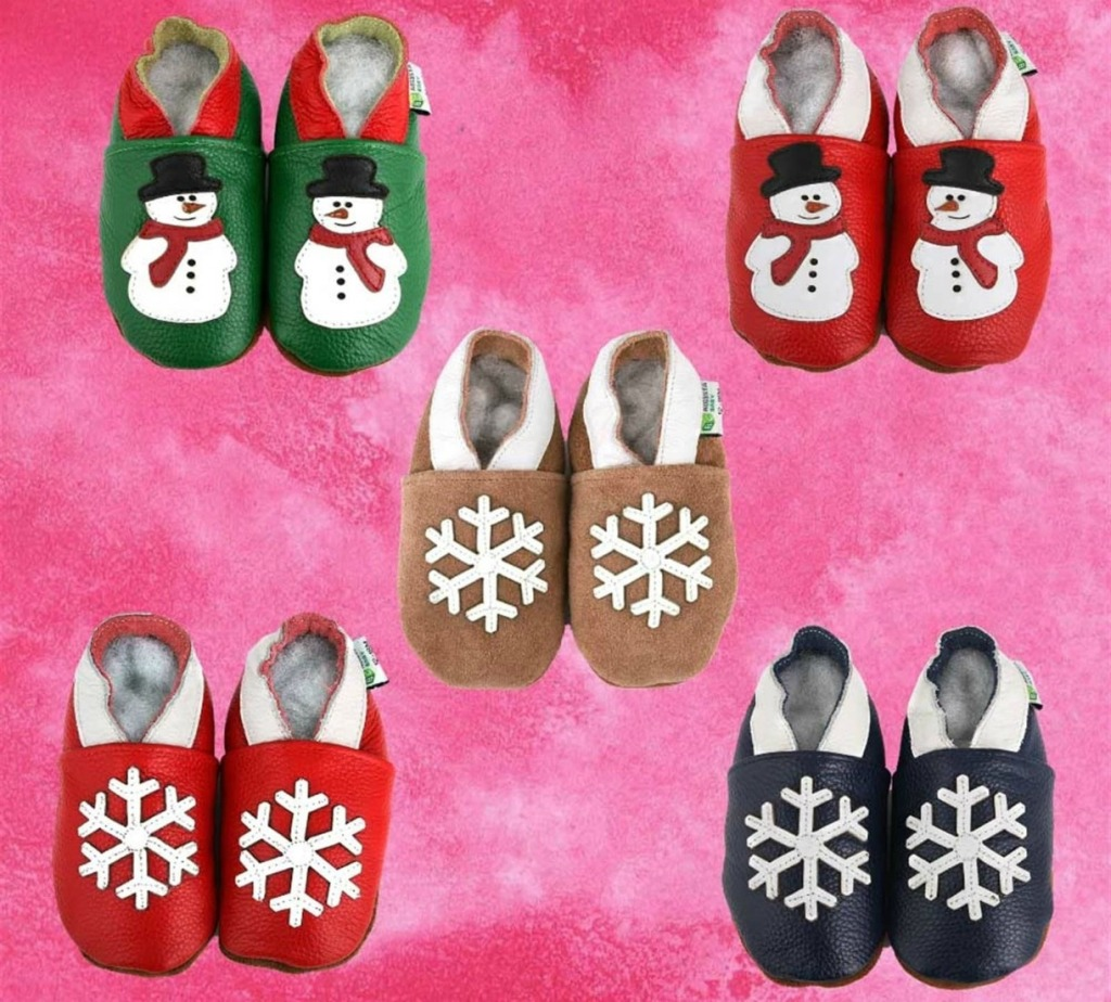2e3782b6beab0 Soft Sole Leather Holiday Themed Baby Shoes Only $6.49 Shipped ...
