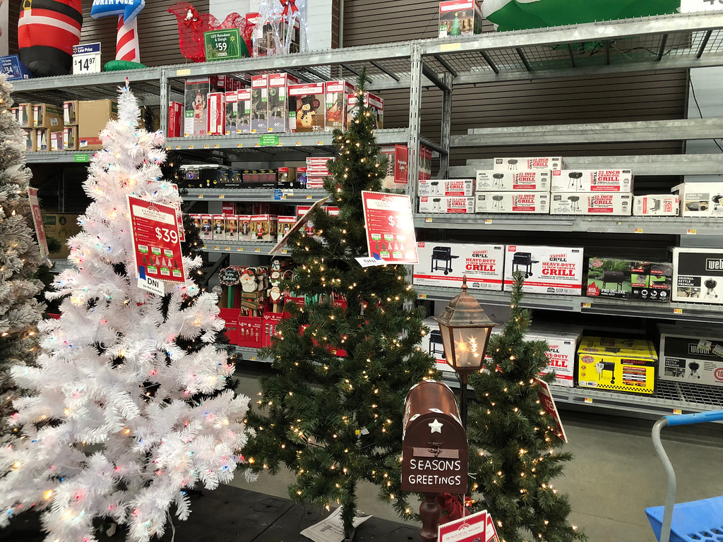 Holiday Time 6.5-ft. Pre-Lit Artificial Christmas Tree Just ...