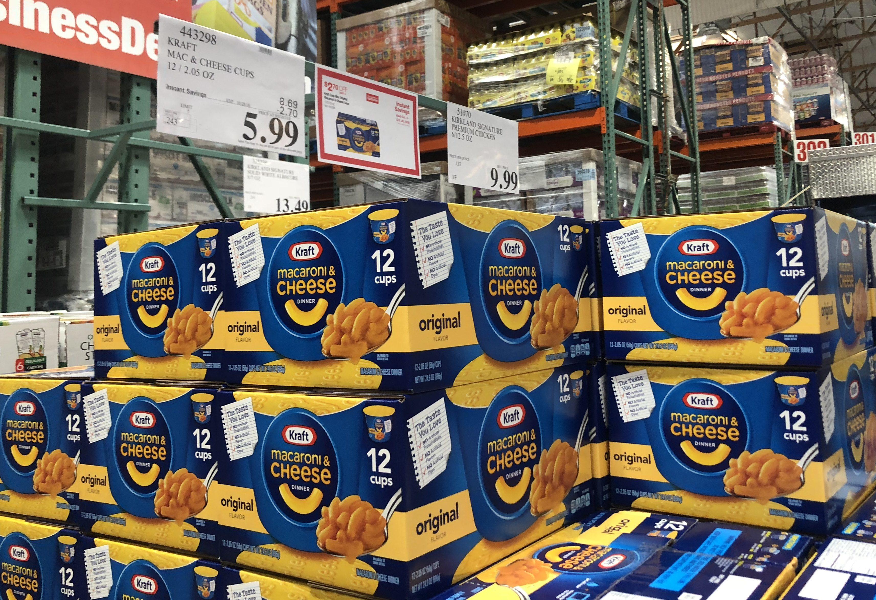 Costco deals October 2018 – Kraft mac and cheese cups Costco