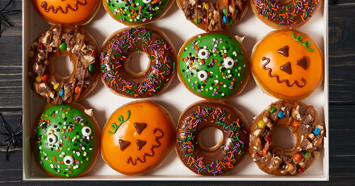 Halloween freebies and deals – Krispy Kreme Trick Or Treat donuts