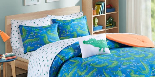 Crocodile Full Size 8-Piece Bedding Set Only $20.99 (Includes Sheets & Comforter) + More