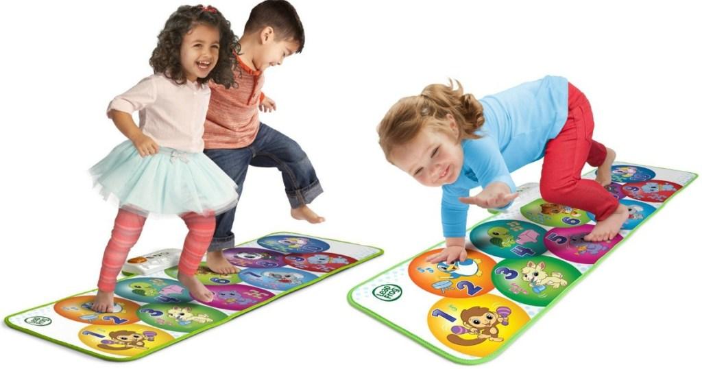 kids on a leapfrog play mat