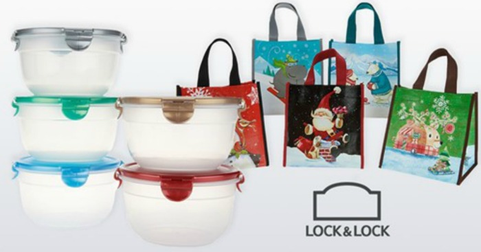 Lock & Lock 5 Piece Container Set with Holiday Gift Bags as Low as $20.48 Shipped