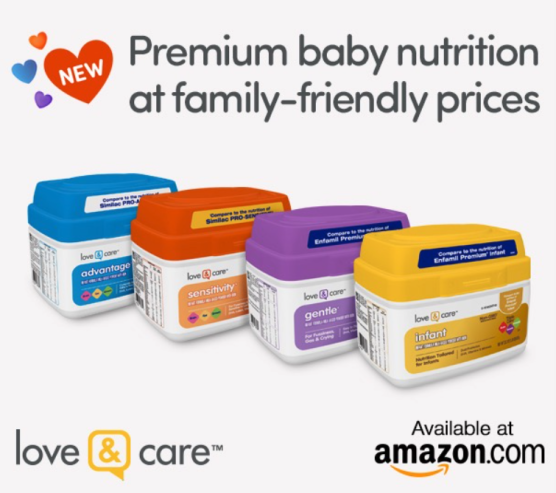Love & Care baby formula options on Amazon