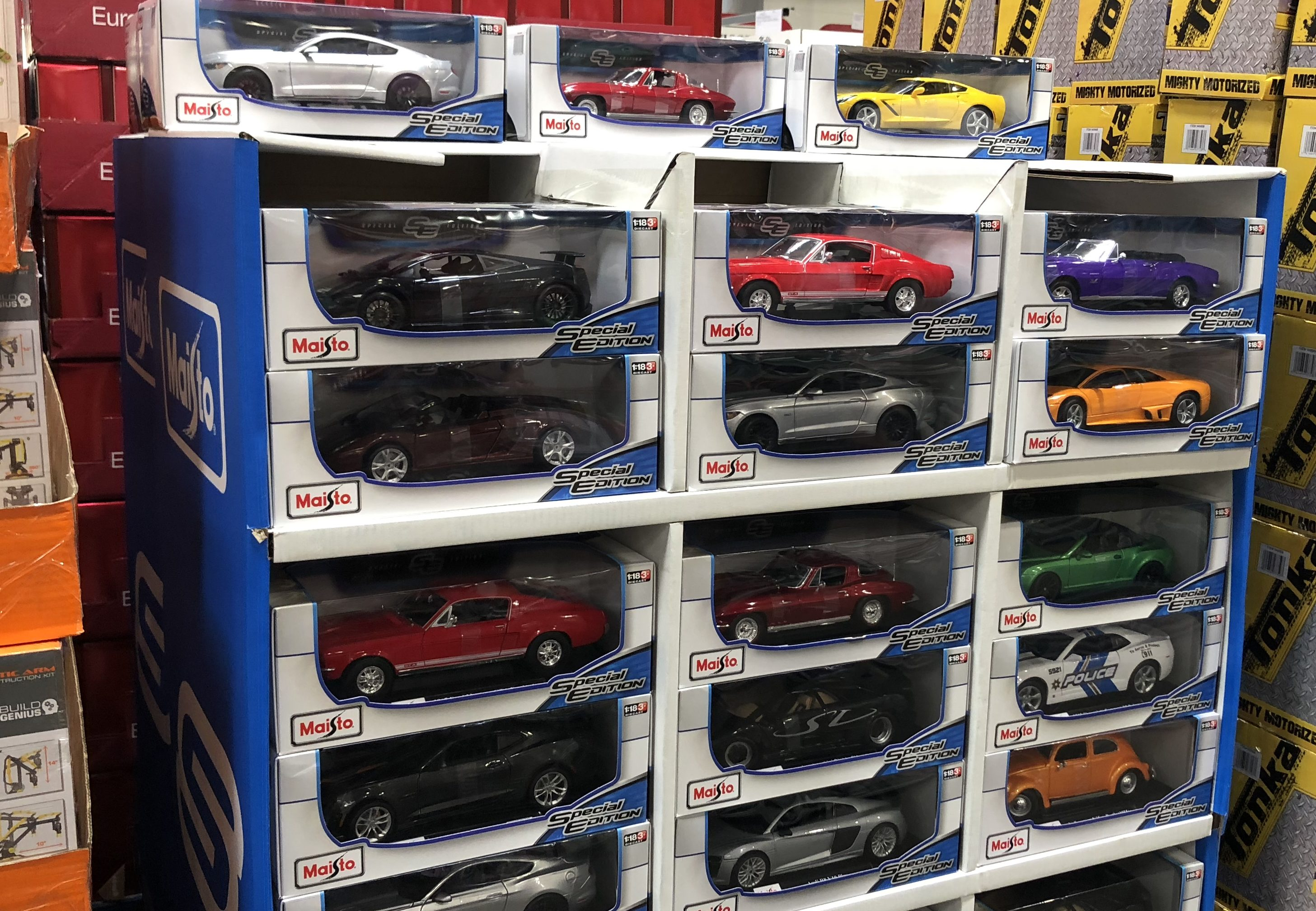 The best holiday toy deals for 2018 include Maisto Diecast cars at Costco