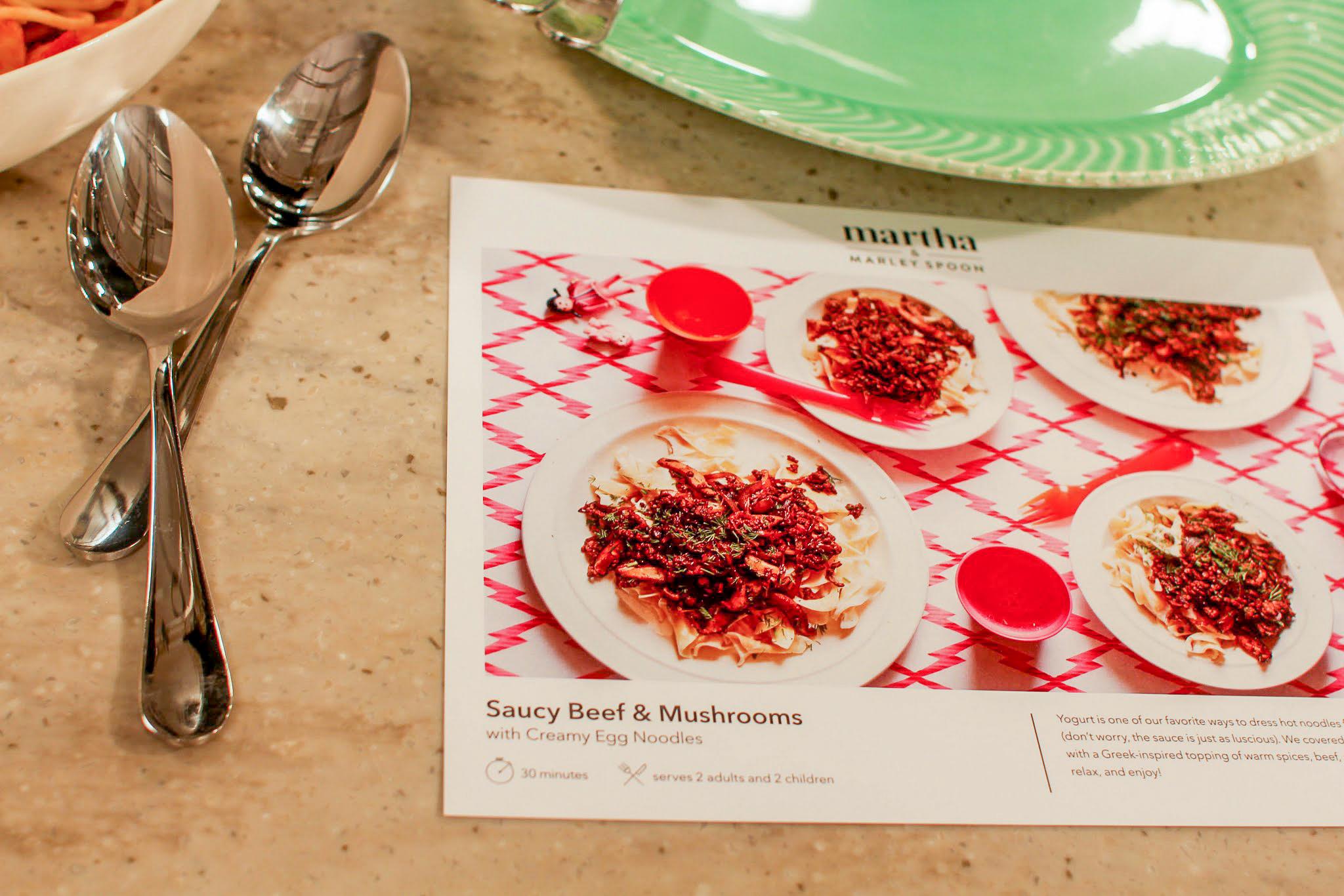 martha marley spoon recipes