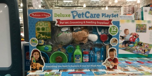 Melissa & Doug 32-Piece Deluxe Pet Care Playset Only $26.99 at Costco