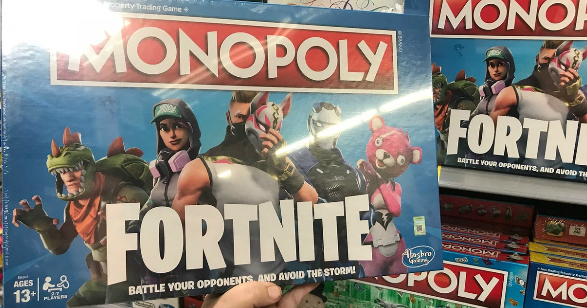 Printing Monopoly Fortnite Edition Board Game Just 19 99