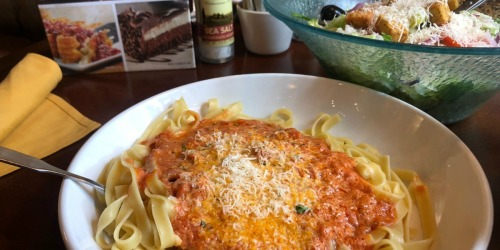 Olive Garden's Never Ending Pasta Bowl is Buy One, Get One Free (Today Only, October 17th)