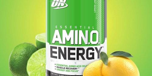 Amazon: Optimum Nutrition Amino Energy Powder Just $10.32 Shipped