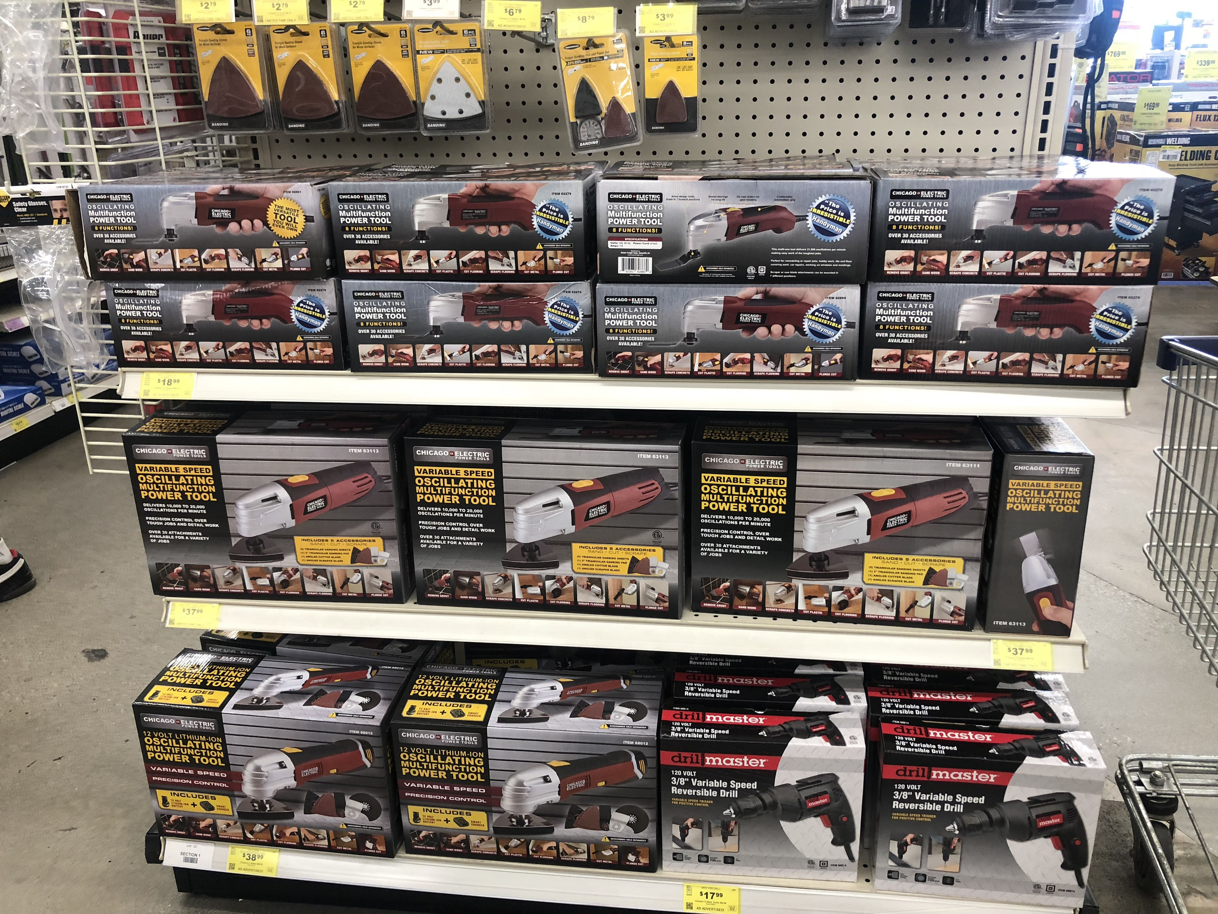 best harbor freight 2018 black friday deals – power tool end cap