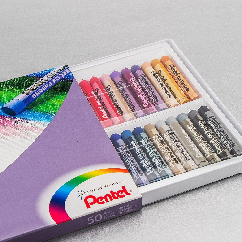 pentel oil pastels in box