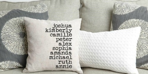 Personalized Throw Pillow Covers as Low as $8.48 Each Shipped (Add Up To 15 Names)