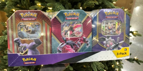 Pokémon Collector Tin 3-Pack Set as Low as $25.99 at Costco (Just $8.66 Each)