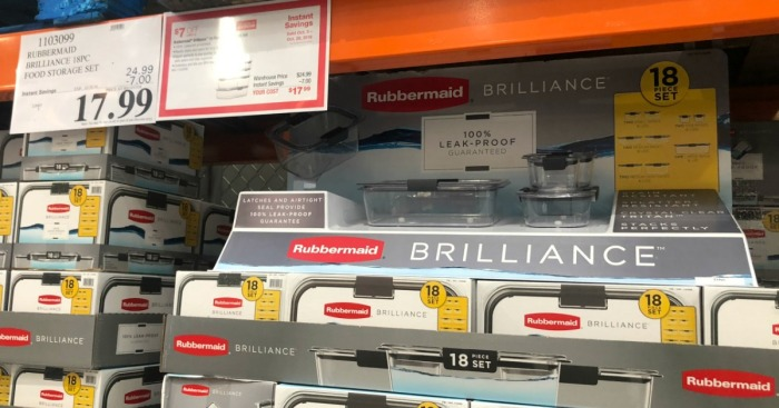 Rubbermaid Brilliance 18-Piece Food Storage Set Only $17.99 at Costco (In-Store & Online)