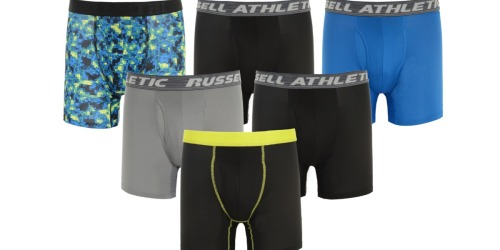 Russell Men's Boxer Briefs 6-Pack Only $19.99 (Just $3.33 Each)