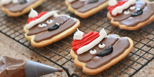 DIY Poop Emoji Santa Christmas Cookies