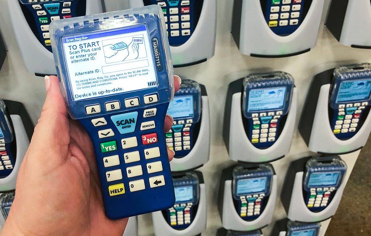 kroger scan bag go program – handheld device showing load screen