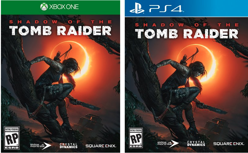 shadow of the tomb raider video game xbox one and ps4