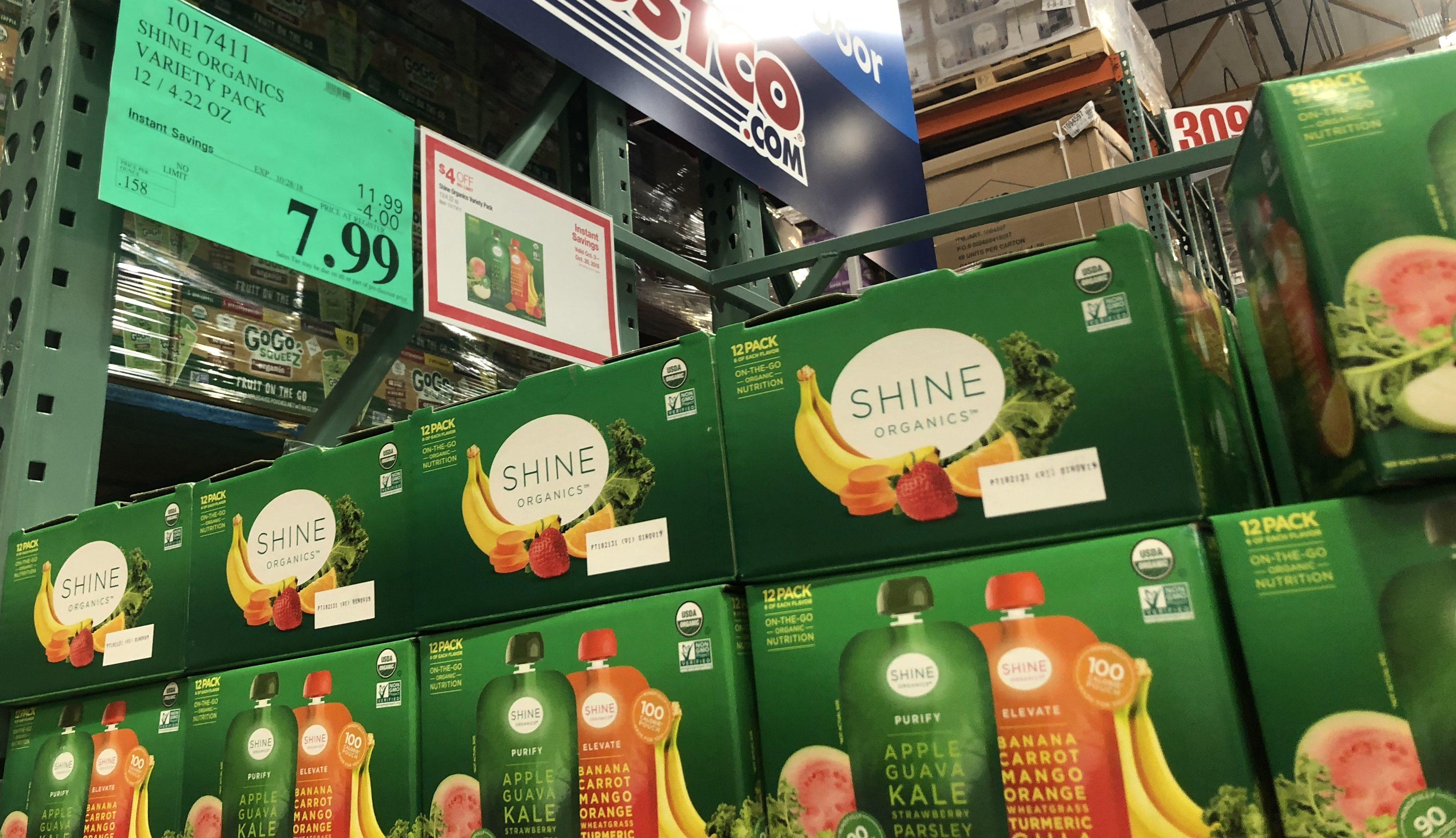 Costco deals October 2018 – Shine Organics drinks Costco