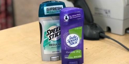 Speed Stick Deodorant Just 24¢ Each After Walgreens Rewards