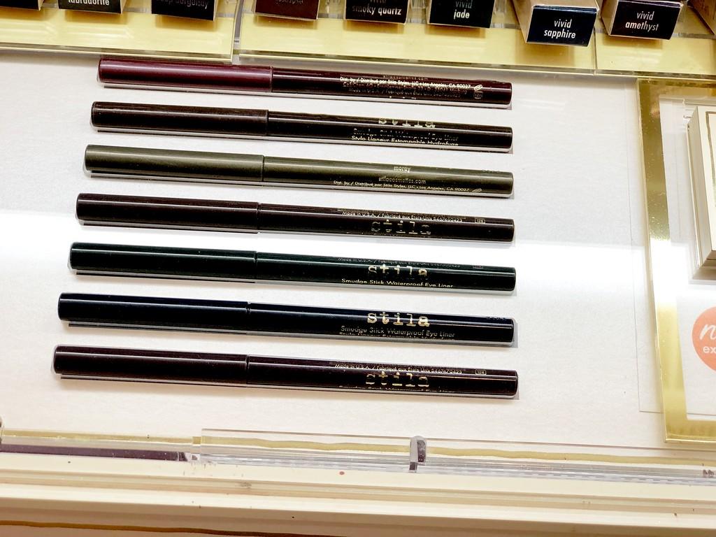 store display of eye liner