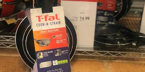 T-Fal 3-Piece Fry Pan Set Only $12.99 at Macy's (Regularly $45) + More