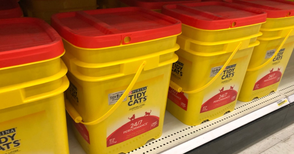 tidy cats clumping cat litter on a shelf at target