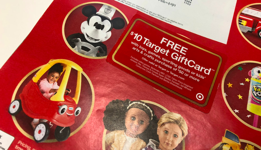 target 2018 toy catalog and gift card – The gift card