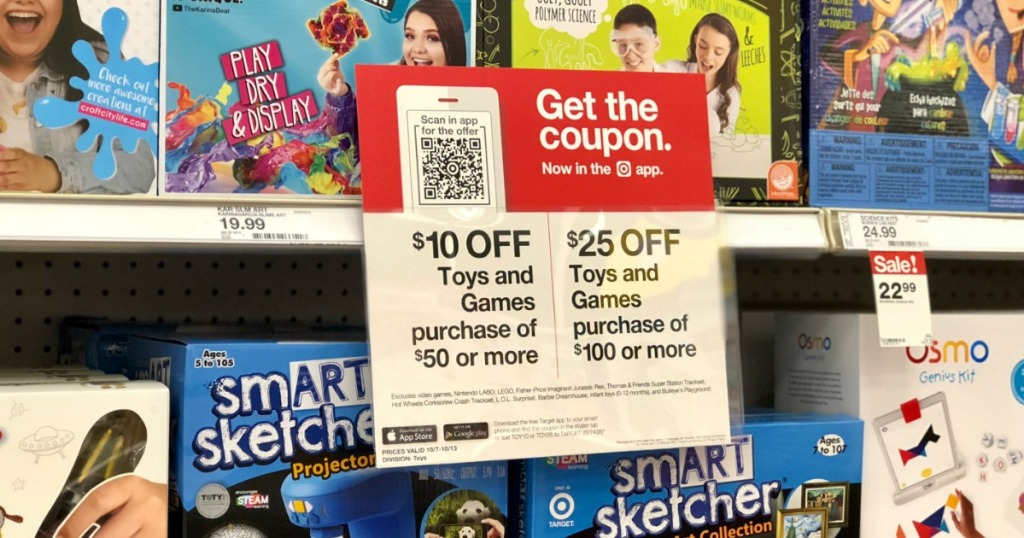 $10 Off $50 Toys & Games Purchase at Target (Online & In