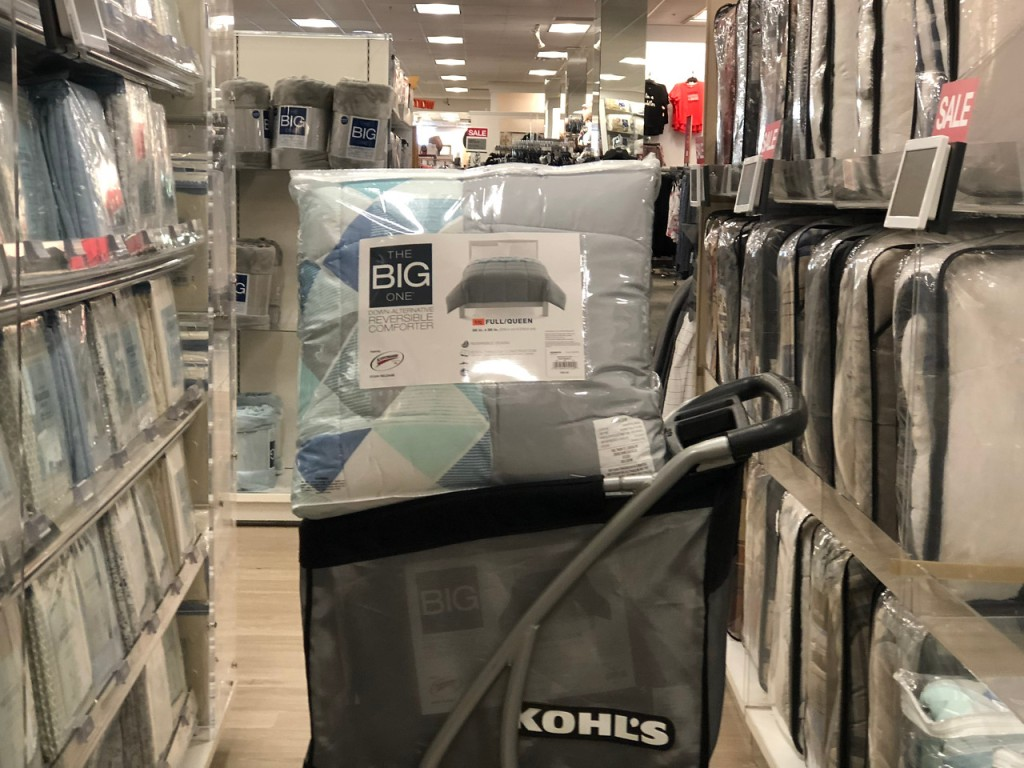 the big one down reversible comforter in Kohl's cart