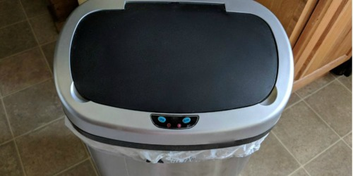 Stainless Steel 13-Gallon Touch-Free Automatic Trash Can Only $31.99 Shipped
