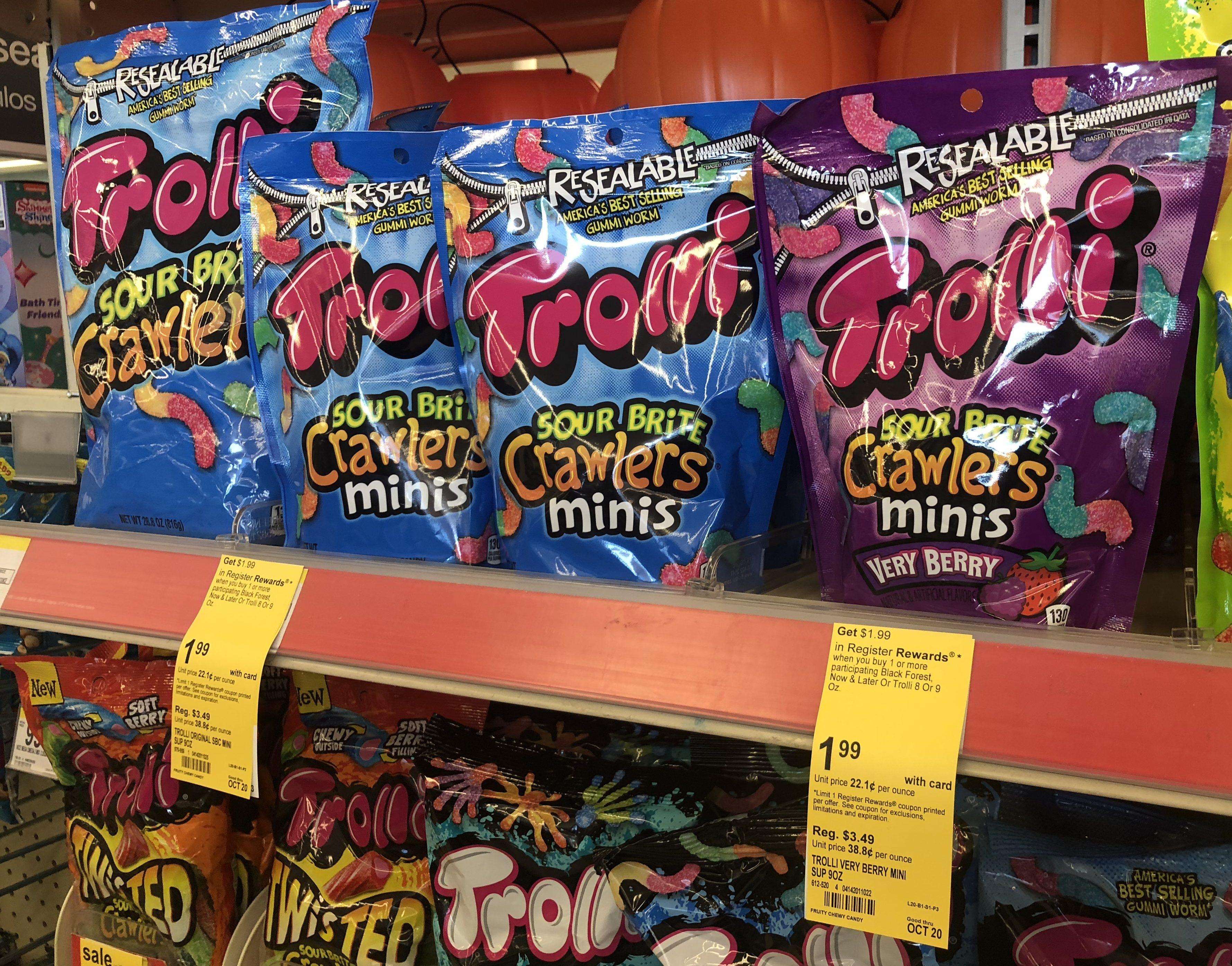 target & walgreens deals, coupons, & freebies 10-17-2018 –Trolli Candy deal at Walgreens
