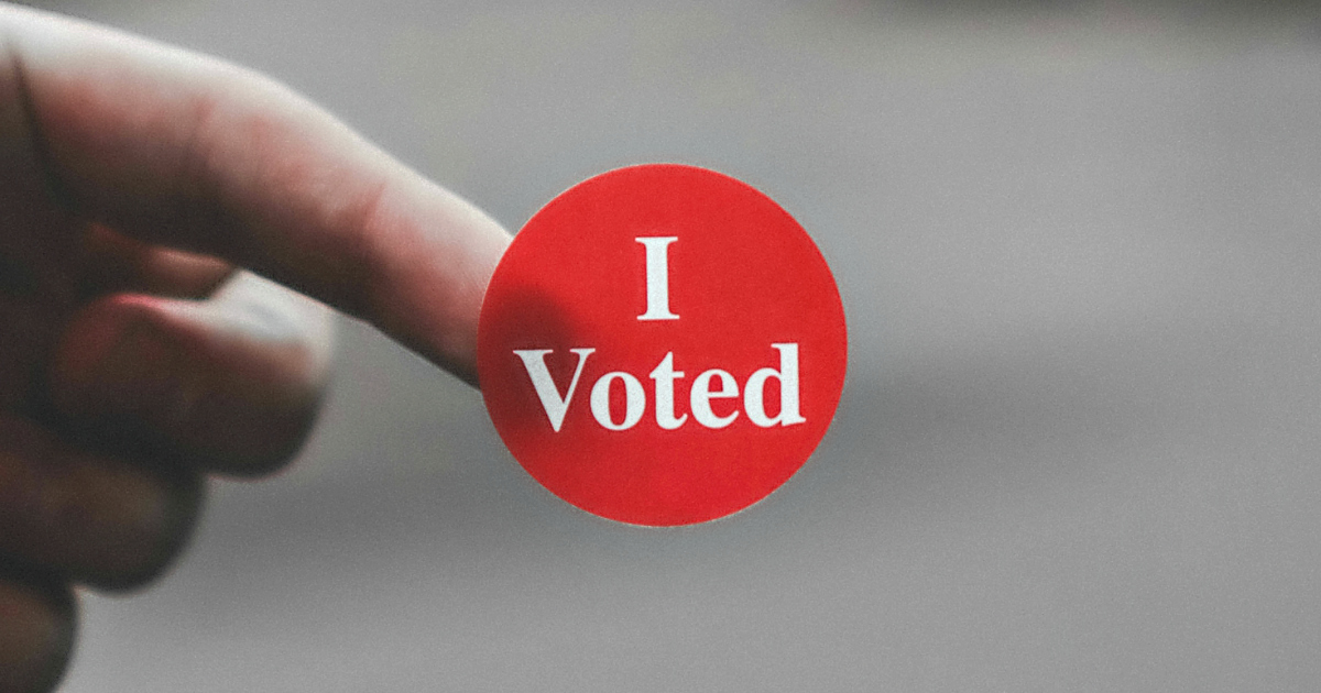 Uber and Lyft are offering free and reduced-rate rides election day – I voted sticker