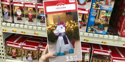 Holiday Inflatables Only $14.97 at Walmart (Unicorn, Toy Soldier, Elf, Santa & More)