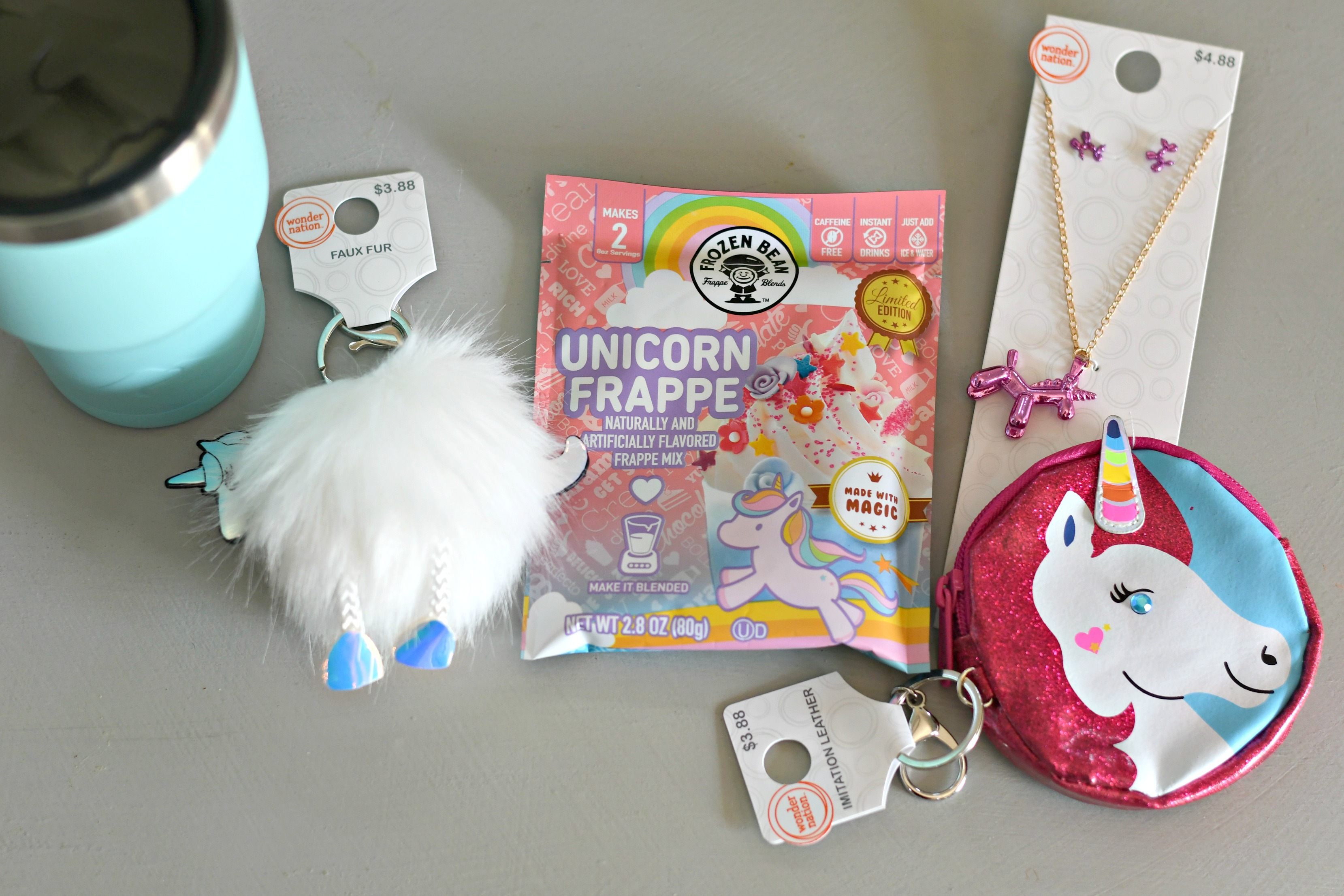 DIY Tumbler Gift basket ideas – Unicorn gift contents