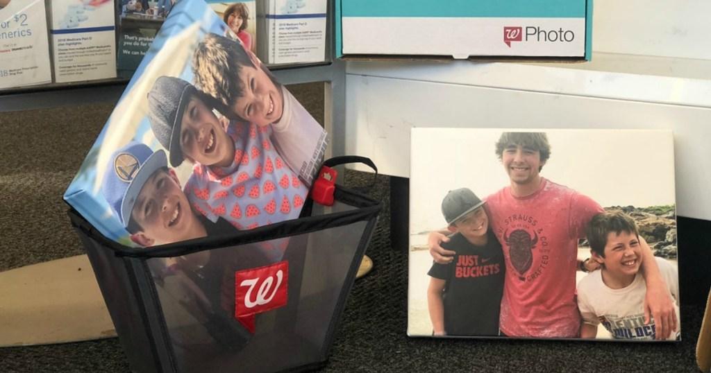 canvas prints in Walgreens basket