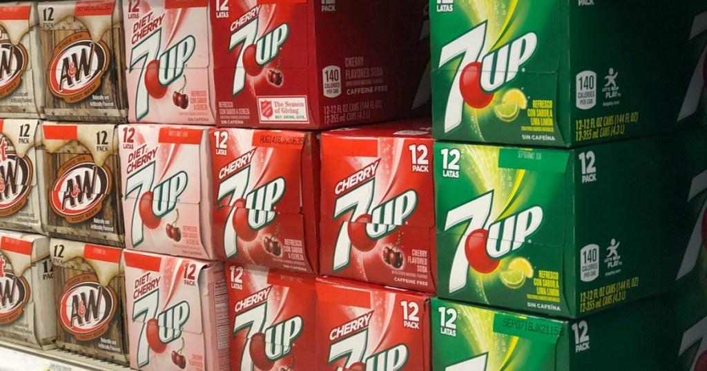 soda on shelf