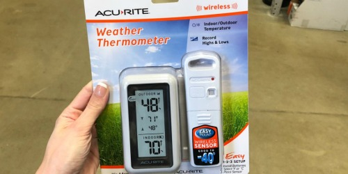 AcuRite Digital Indoor/Outdoor Thermometer Possibly Only $2.99 at Lowe's (Regularly $15) + More