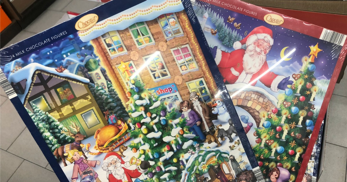 chocolate advent calendars as low as at aldi hip2save. Black Bedroom Furniture Sets. Home Design Ideas